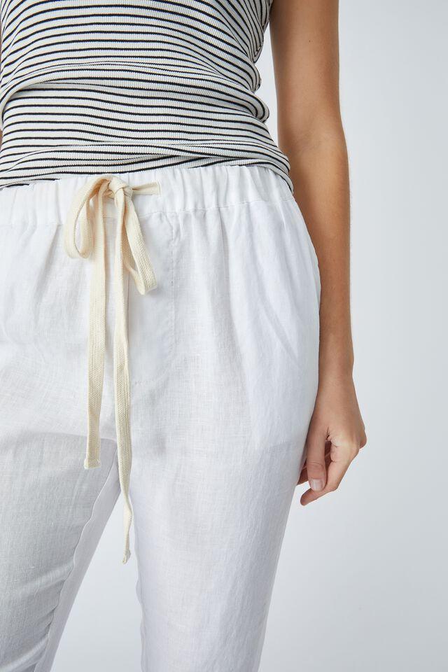 Linen Pant, WARM WHITE