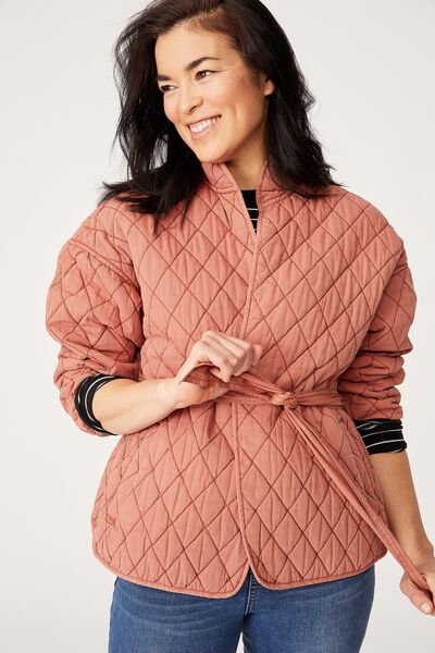 The Valley Quilted Jacket, RUST