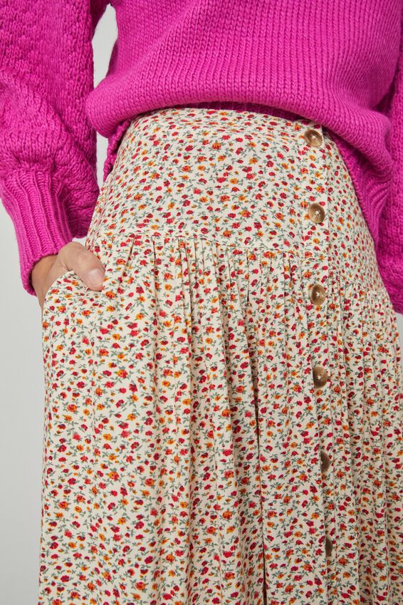 Florence Skirt, STONE DITSY FLORAL