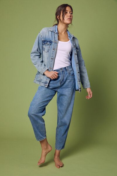 Baggy Weekend Jean, CLASSIC BLUE