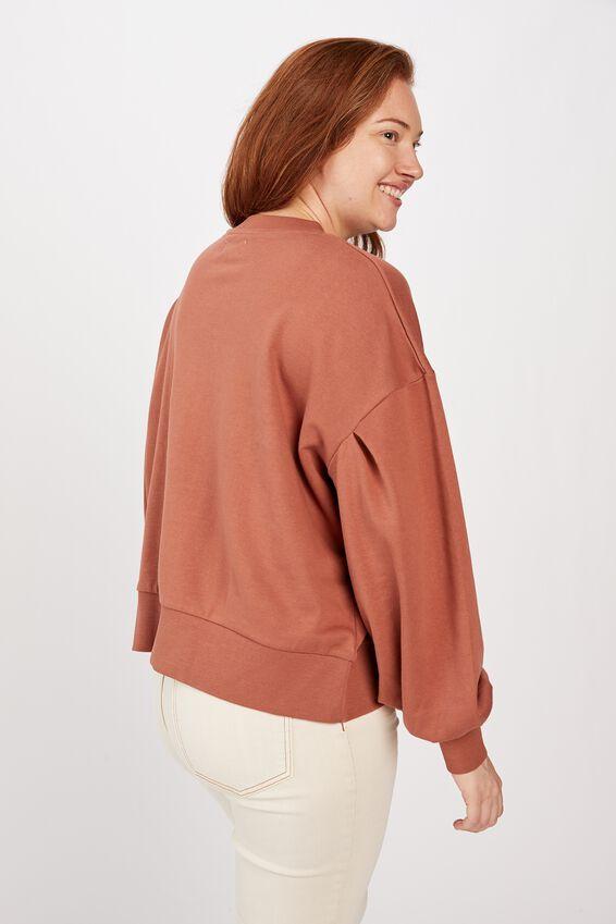 Organic Sunday Sweater, RUST