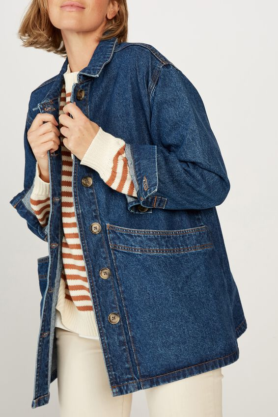 Worker Jacket, VINTAGE BLUE