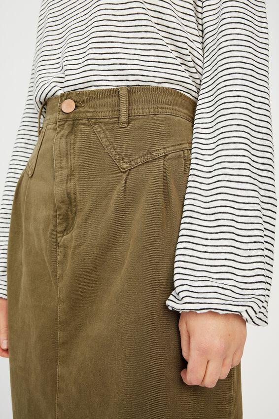 90 S Midi Skirt, SOFT OLIVE