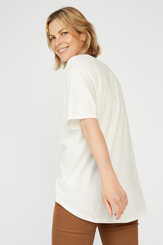 Organic Daily Print Tee, WHITE/ALL GOOD