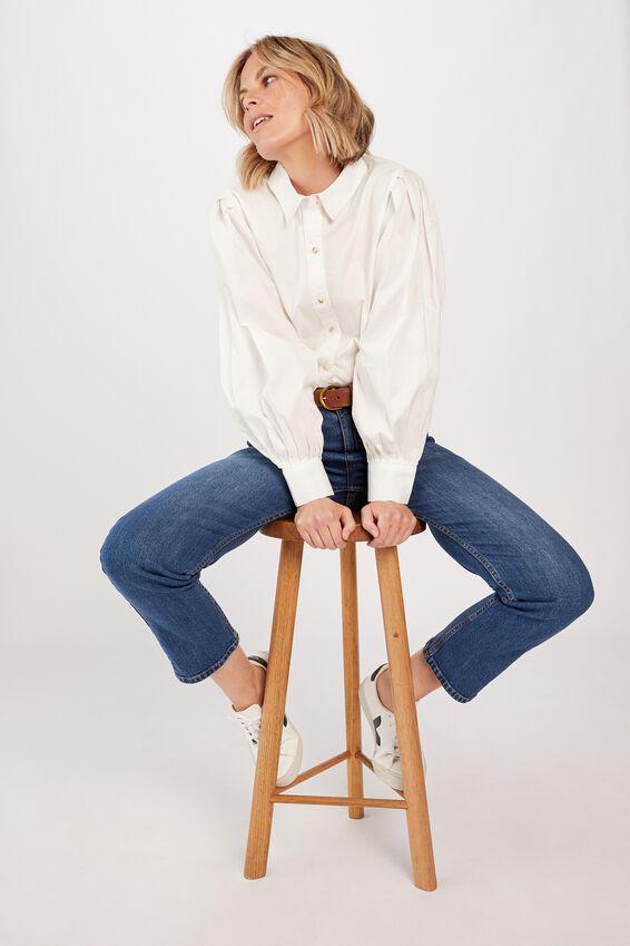 Talisman Shirt - White Stripe, WHITE SELF STRIPE