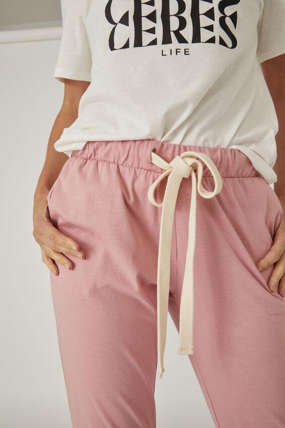 Organic Jersey Pant, WASHED PINK