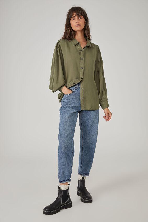 Talisman Shirt - Soft Olive, SOFT OLIVE