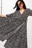 Picnic Wrap Dress, BLACK DITSY