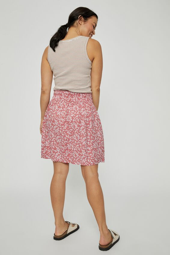 Lille Mini Skirt, CLAY DITSY FLORAL