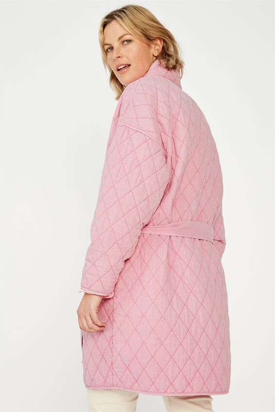 Quilted Kimono Jacket, CANDY PINK