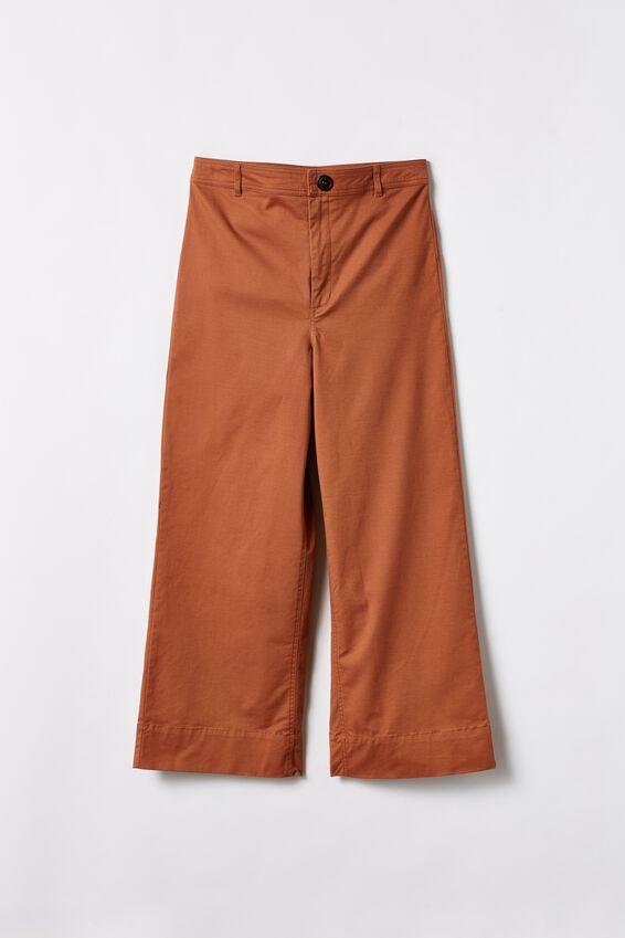 Wide Leg Pants, RUST