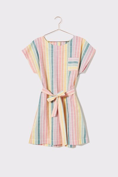 Oversized Tee Dress, RAINBOW STRIPE