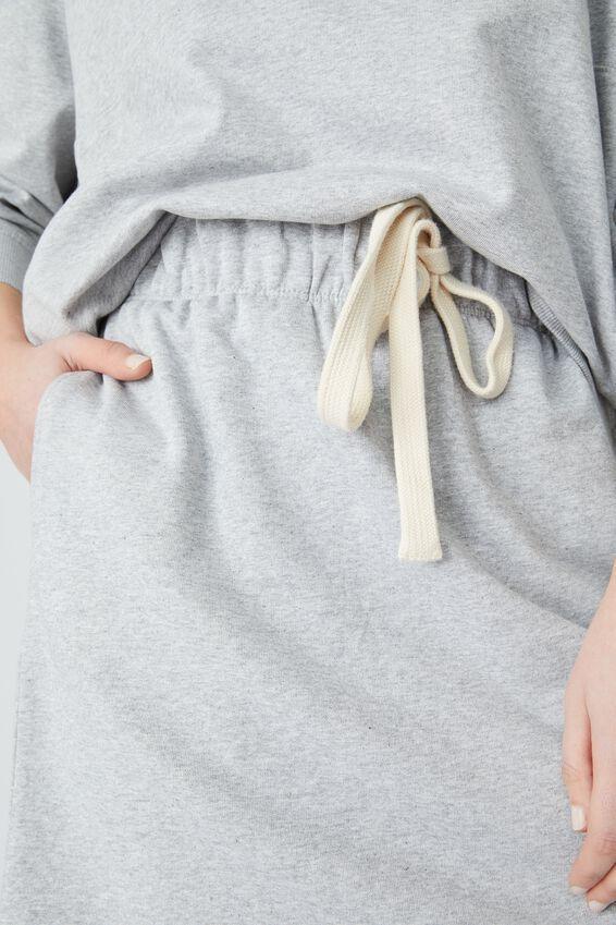 Organic Fleece Mini Tube Skirt, GREY MARLE
