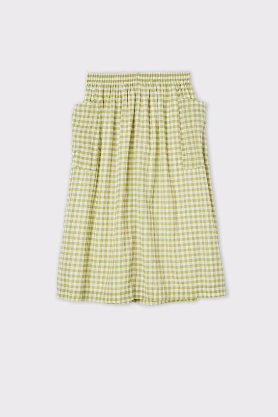 Poppy Pocket Skirt, HERB GREEN
