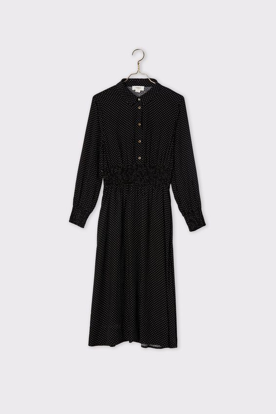 Trash To Treasured X Shirt Dress, BLACK MINI SPOT