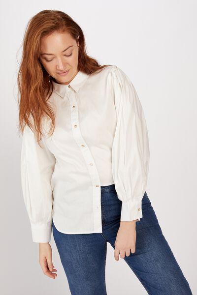 Talisman Shirt, WHITE SELF STRIPE