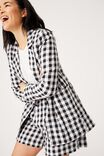 BLACK TEXTURED GINGHAM