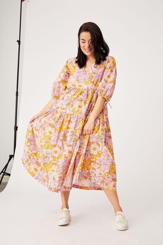 Picnic Wrap Dress, WILDFLOWERS