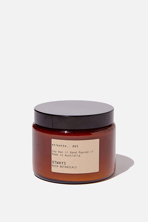 Etikette Soy Candle 500Ml, BROWN JAR