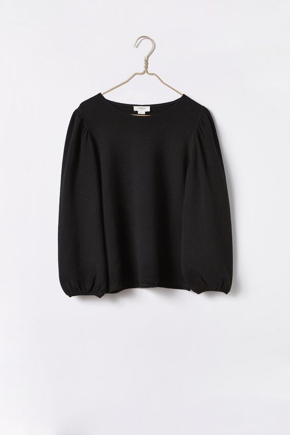 Halcyon Top, BLACK