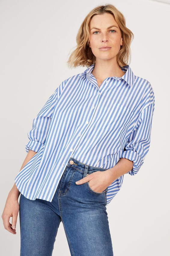 The Daily Shirt, BLUE WHITE STRIPE