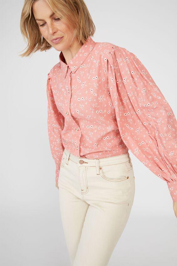 Talisman Shirt, PINK FLORAL