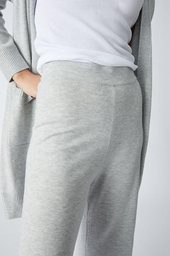 Lightweight Soft Knit Lounge Pant, LIGHT GREY MARLE