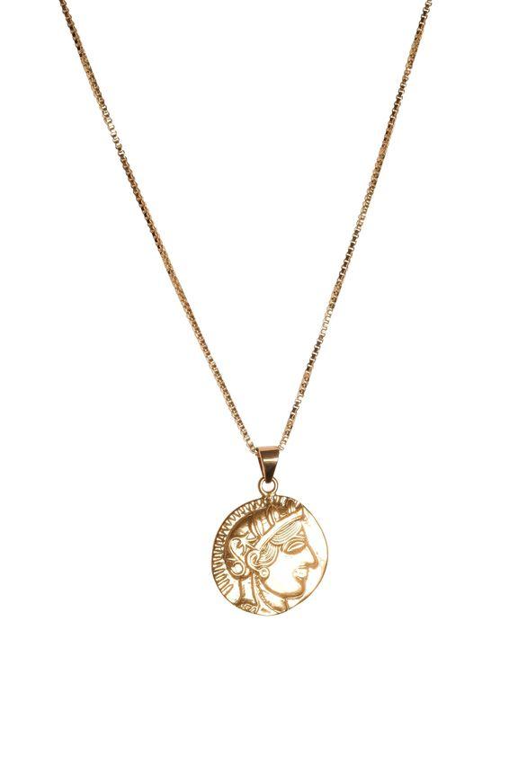 S-Kin Studio Roma Pendant Necklace, GOLD FILLED
