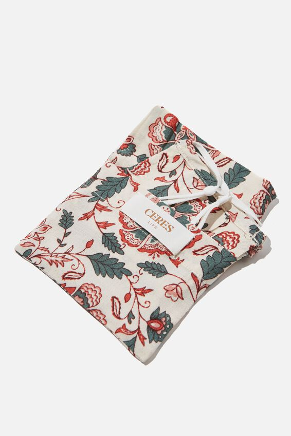 Face Mask, LARGE RED FLORAL