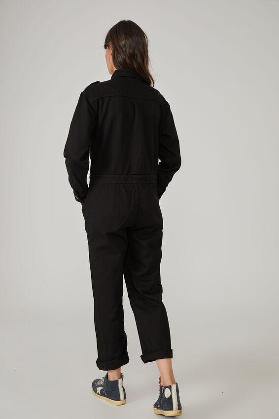 Meadow Utility Jumpsuit, BLACK