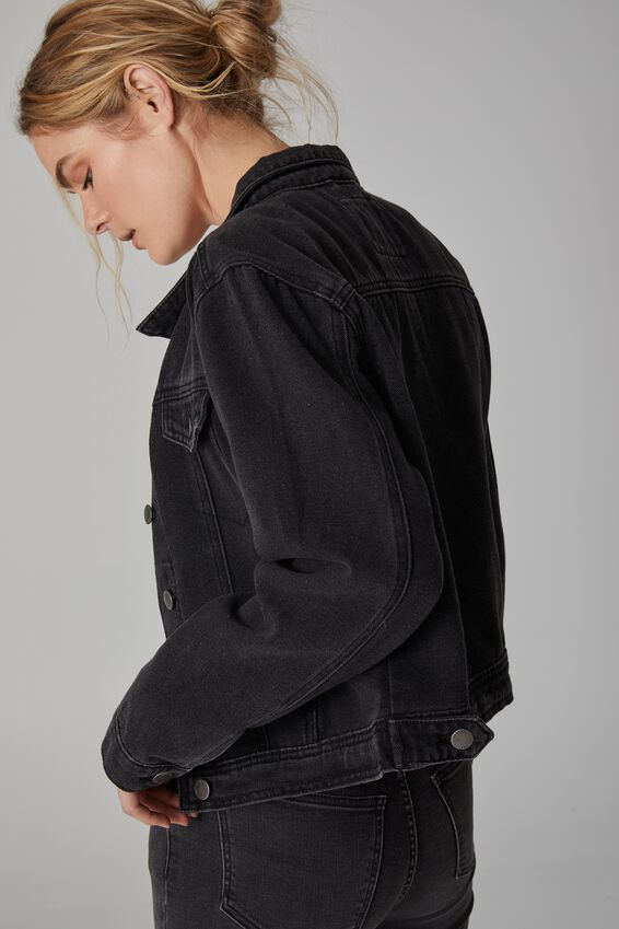 Rover Denim Jacket, BLACK WASH
