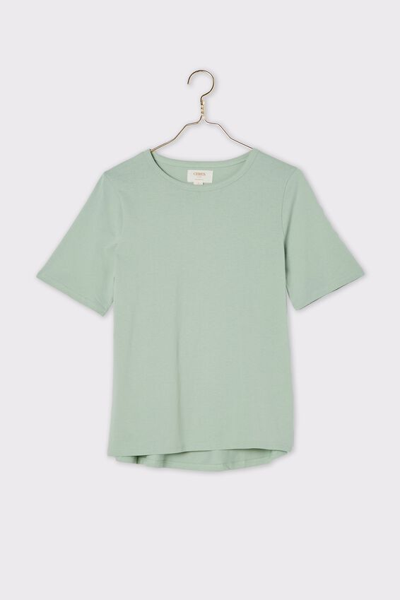 Organic Daily Tee, SMOKE GREEN