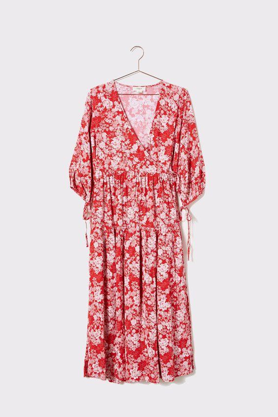 Picnic Wrap Dress, ORIENTAL FLORAL