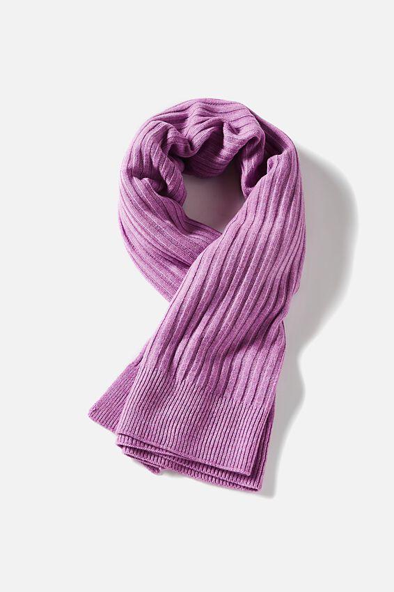 Soft Yarn Scarf, ORCHID MARLE
