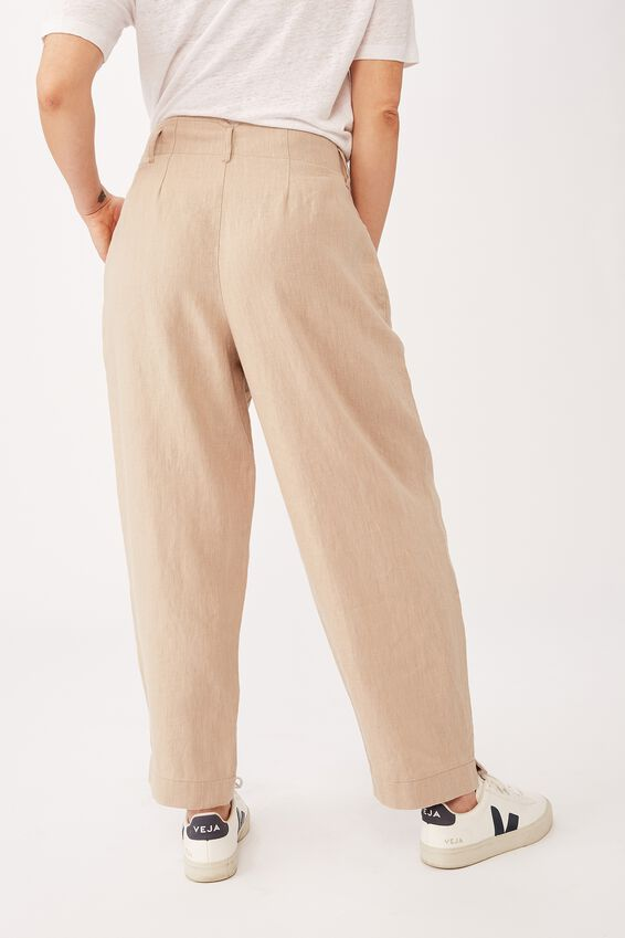 Emma Hawkins Linen Pant, STONE