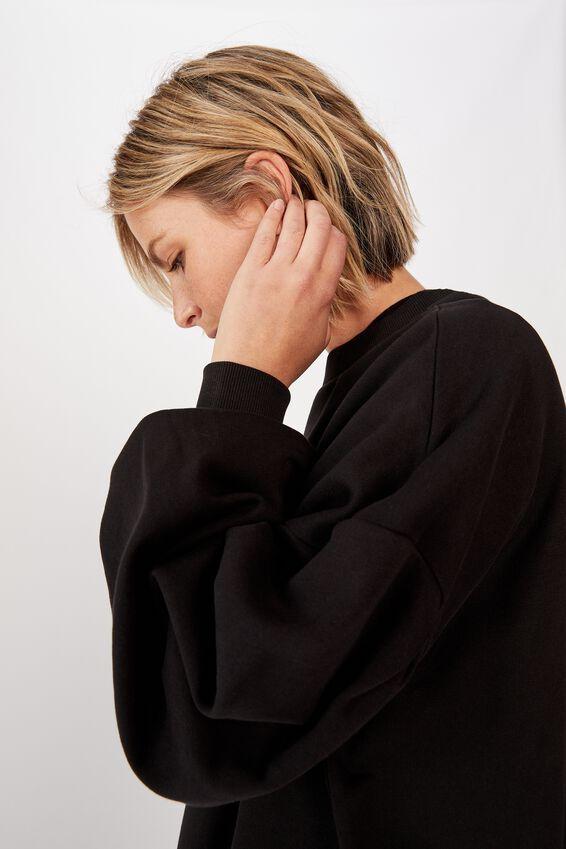 Organic Sunday Sweater, BLACK