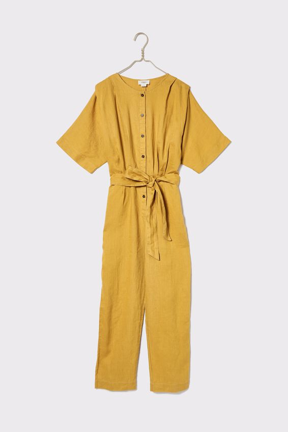 Linen Jumpsuit, GOLDEN SUN