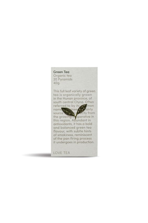 Love Tea Pyramid Tea Bags - 20, GREEN TEA