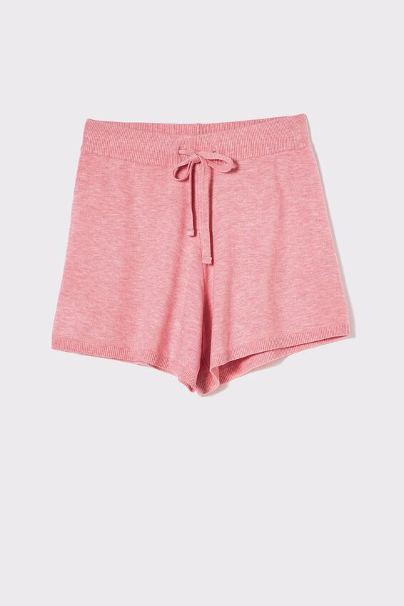 Soft Knit Lounge Short, PALE PINK MARLE