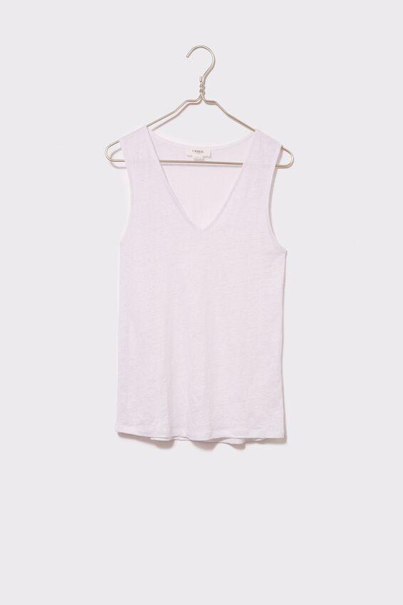 Emma Hawkins Linen Knit Tank, WHITE