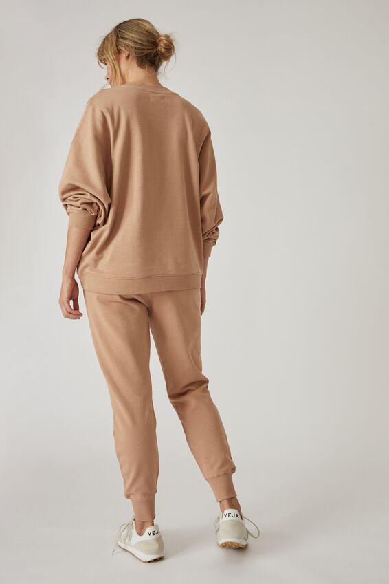Organic Cotton Trackpant, CAMEL