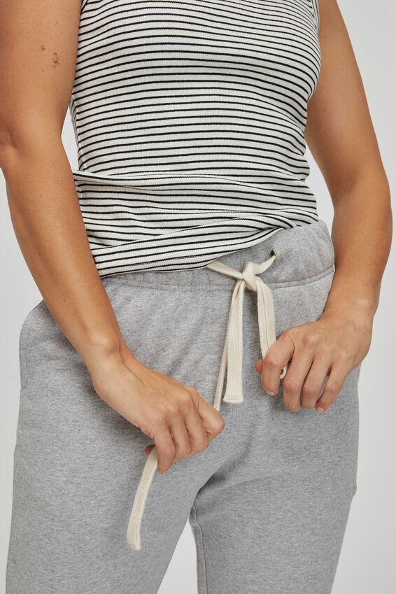 Organic Cotton Trackpant, GREY MARLE