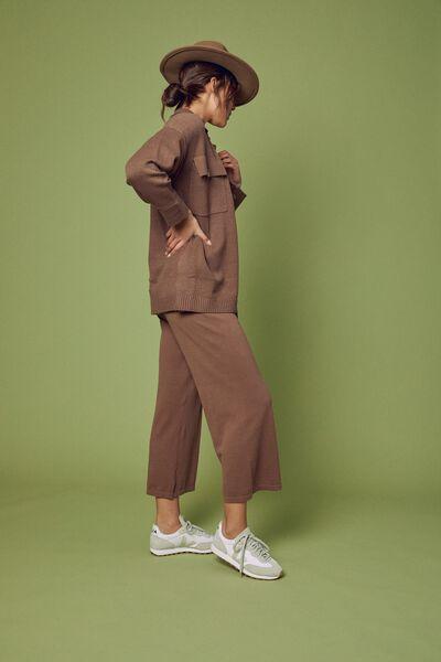 Man Style Knit Cardigan, CLOVE