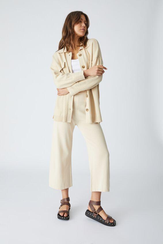 Man Style Knit Cardigan, LIGHT CAMEL