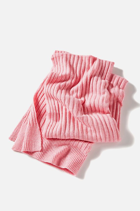 Soft Yarn Scarf, PALE PINK MARLE