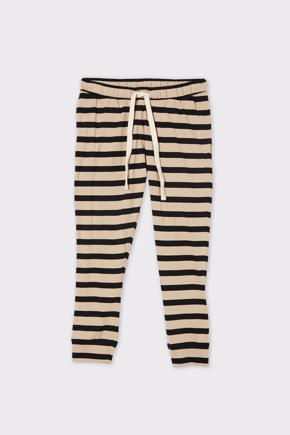 Organic Jersey Pant, BOLD PEBBLE BLACK STRIPE