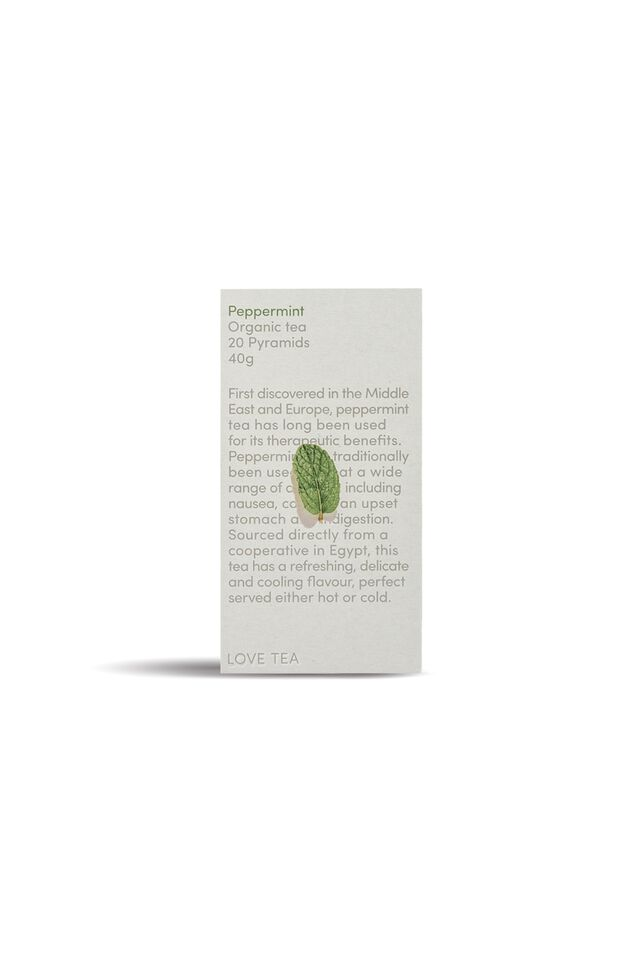 Love Tea Pyramid Tea Bags - 20, PEPPERMINT