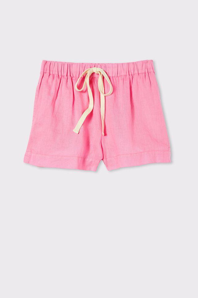 Linen Short, SUMMER PINK