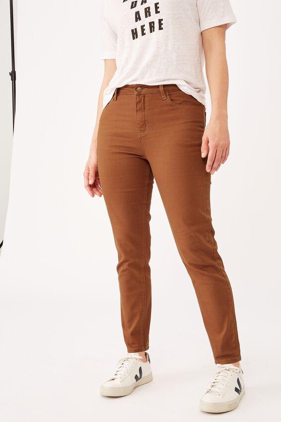 Mid Rise Skinny Leg, AMBER BROWN