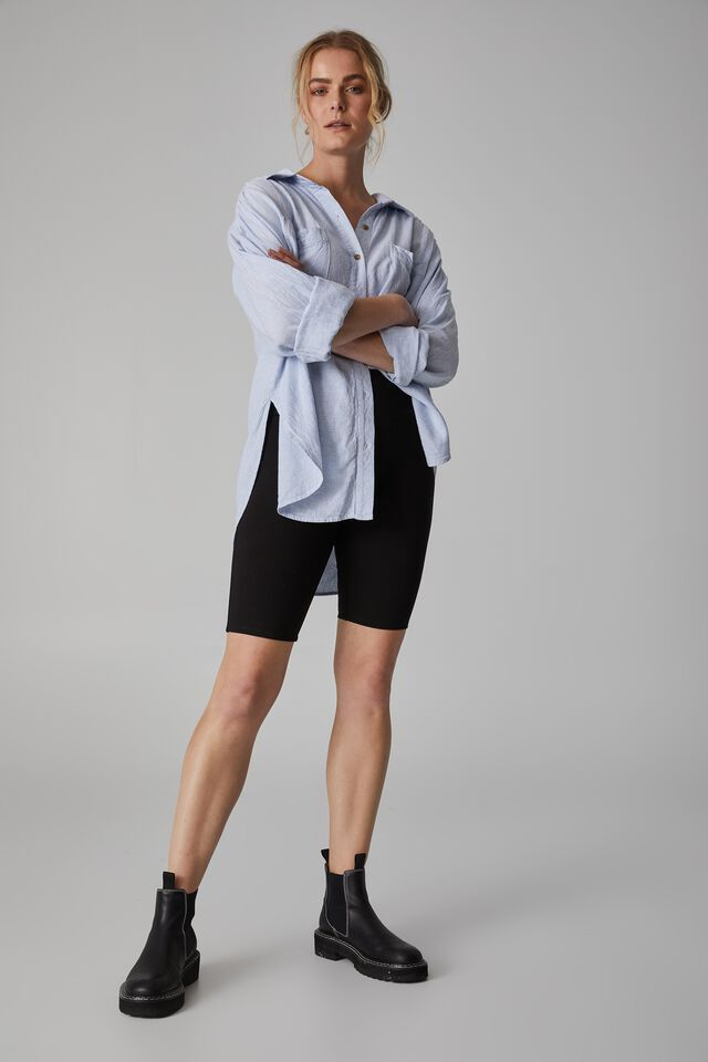 Daily Mid Length Bike Short, BLACK